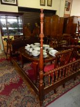 Nice mahogany 4 poster bed with rails. Special shipping required