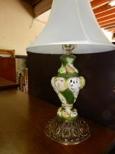 Lovely porcelain Capodimonte lamp with putti scene