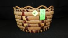 Nice, vintage, Native American, hand woven, Fraser river cedar root & bitter cherry basket