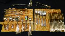 8) Nice marked Nickel silver flatware set