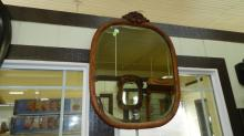 8) Antique carved wall mirror, special shipping required