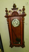 12) Wonderful antique tall case wall clock, (Royal Vienna) special shipping required