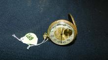 Antique hunter's case Elgin pocket watch, gold plated