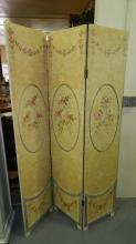Nice hand painted room screen, tri-fold, special shipping required