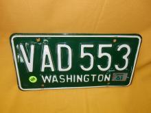 Vintage WA auto license plate 1961