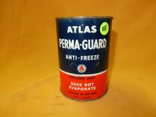 Vintage service station oil can, Atlas anti-freeze, empty