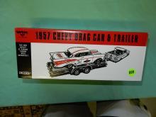 MIB toy Ertl 1957 drag car and trailer