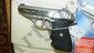 like new German Sig Sauer P232 9MM pistol with clips case, FFL paperwork required see lot OO