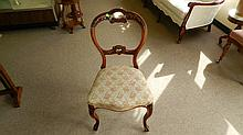 antique carved parlor chair, SSR