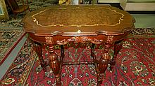 nice walnut carved lamp table, SSR