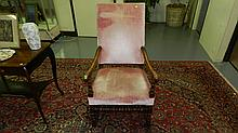 large carved arm chair, SSR