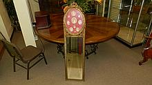 fancy carved French style wall mirror, cond G, only minor loss to one tip on trim, faux pictures, 57 x 15