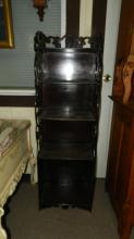 Vintage bookcase / open curio display, special shipping required