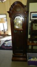 Lovely Howard Miller grandfather clock 3 weights, fancy face, special shipping required