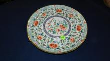 Asian floral plate