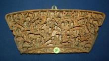 9) Unique high relief carved Asian wall plaque