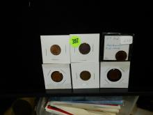 Nice group of U.S.Indian Head pennies, various dates