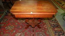 15 Antique walnut parlor table, special shipping required
