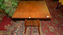9) antique Walnut parlor table, special shipping required