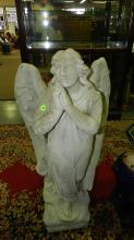 Lovely large concrete praying angle statue, special shipping required