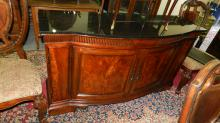 Lovely, modern, marble top sideboard. Special shipping required