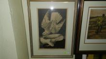5) Antique framed litho titled