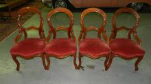 Lovely 4 Piece victorian balloon back chairs. Special shipping required