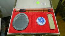 Asian calligraphy set in fitted box