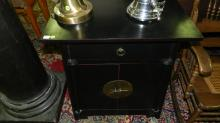 18) Mid Century modern style Asian cabinet, cond VG, special shipping required