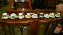 collection of Demitasse cups and saucers, various makers and design, cond VG