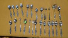group of sterling silver flatware, no tray
