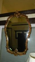 16) Vintage carved wall mirror