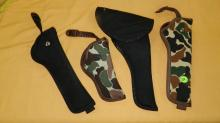 4 Piece nylon pistol holsters