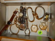 Grroup of vintage / antique wrist watches, various makers, styles, cond