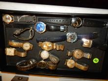 Tray of vintage wrist watches, various styles, makers, cond, NO tray