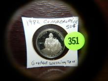 U.S. 1982 Commemorative George Washington half dollar