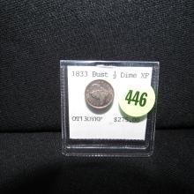 Nice U.S. 1833 Bust 1/2 Dime