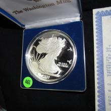 Nice U.S. 2000 GAINT Quarter-Pound Golden Eagle (4OZ) coin with holder & COA