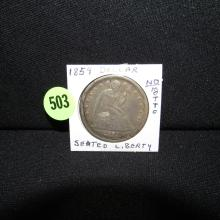 Nice U.S. 1859 Seated Liberty dollar