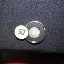Nice U.S. 1868-S Seated Liberty half dime