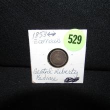 Nice U.S. 1853 Seated Liberty 1/2 dime