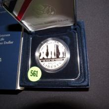 Nice U.S. 2010 American Veterans Disabled For Life Commemorative coin Dollar in holder