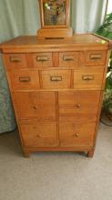7) nice Antique American oak stacking file cabinet, cond VG, special shipping required