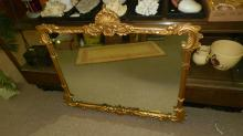 Beautiful antique gold painted wall mirror. Special shipping required