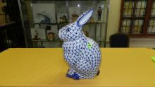 Nice Asian style porcelain blue and white rabbit