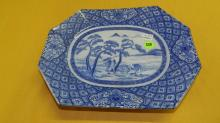 Nice Asian style porcelain blue and white platter
