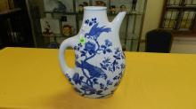 Nice Asian style porcelain blue and white pitcher