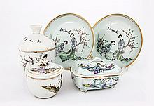 A Group of Five Chinese Republic Period (1912-1949) Famille Rose Porcelain Dishes, Circa 1920