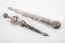 Two Silver Torah Pointers