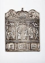 A Fine Silver Shabbat Plaque, Germany, 1705
